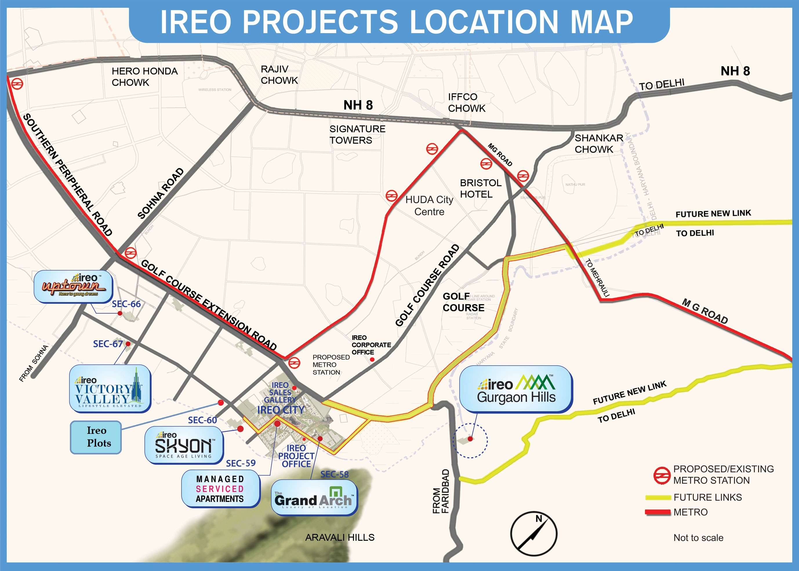 Ireo City Central Location Map