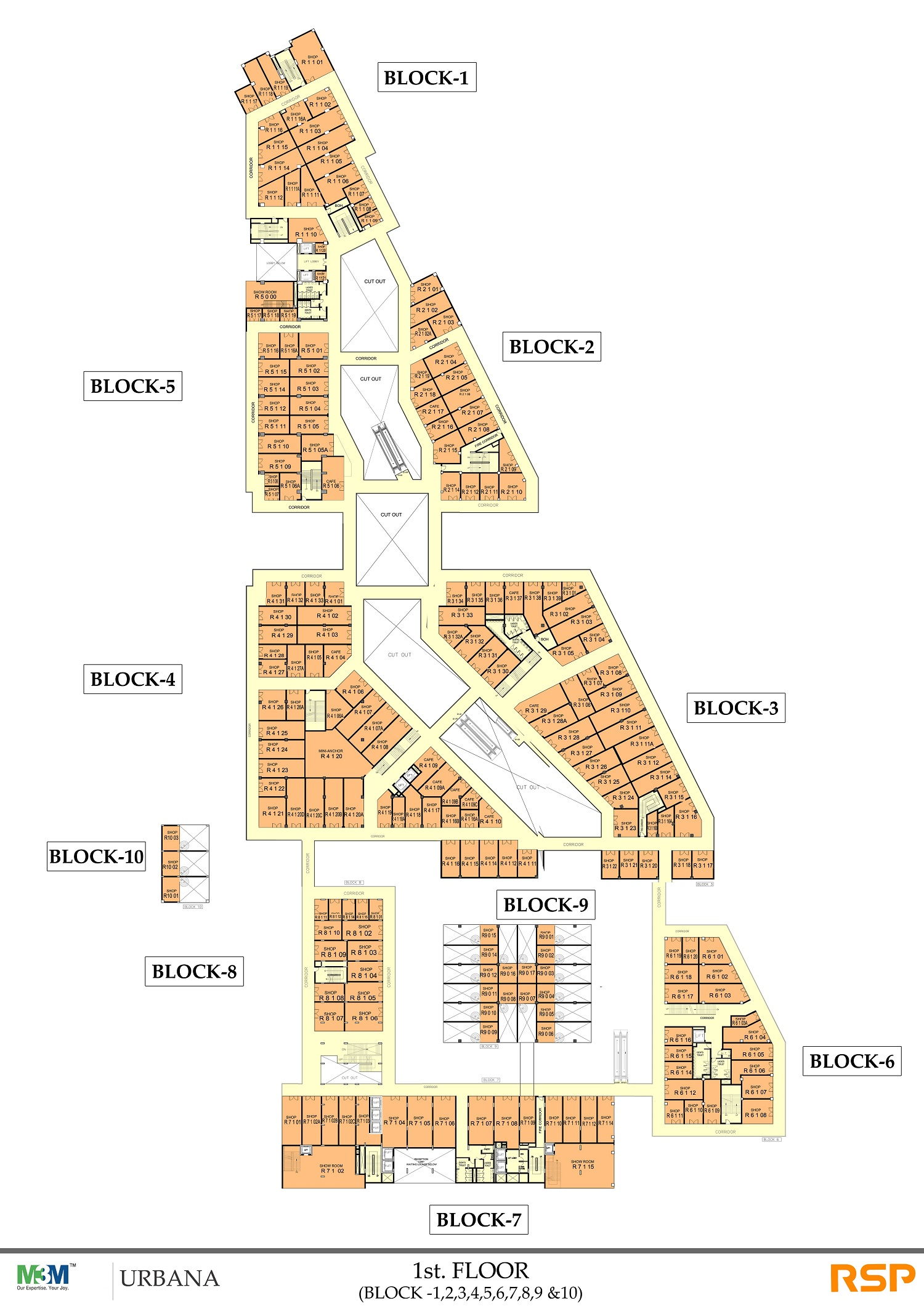M3M Urbana First Floor Plan
