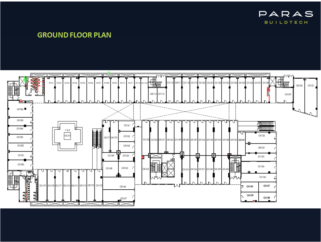 Paras Square Ground Floor Plan