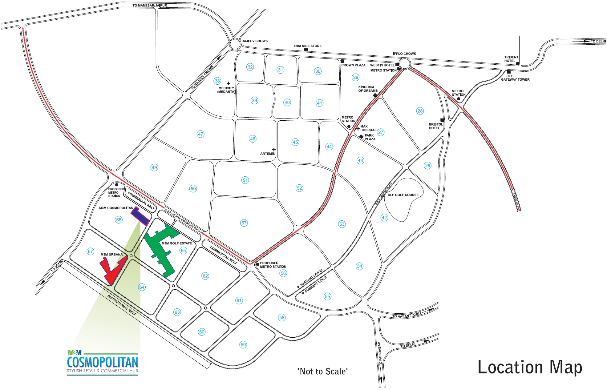 m3m-cosmopolitan-location-map