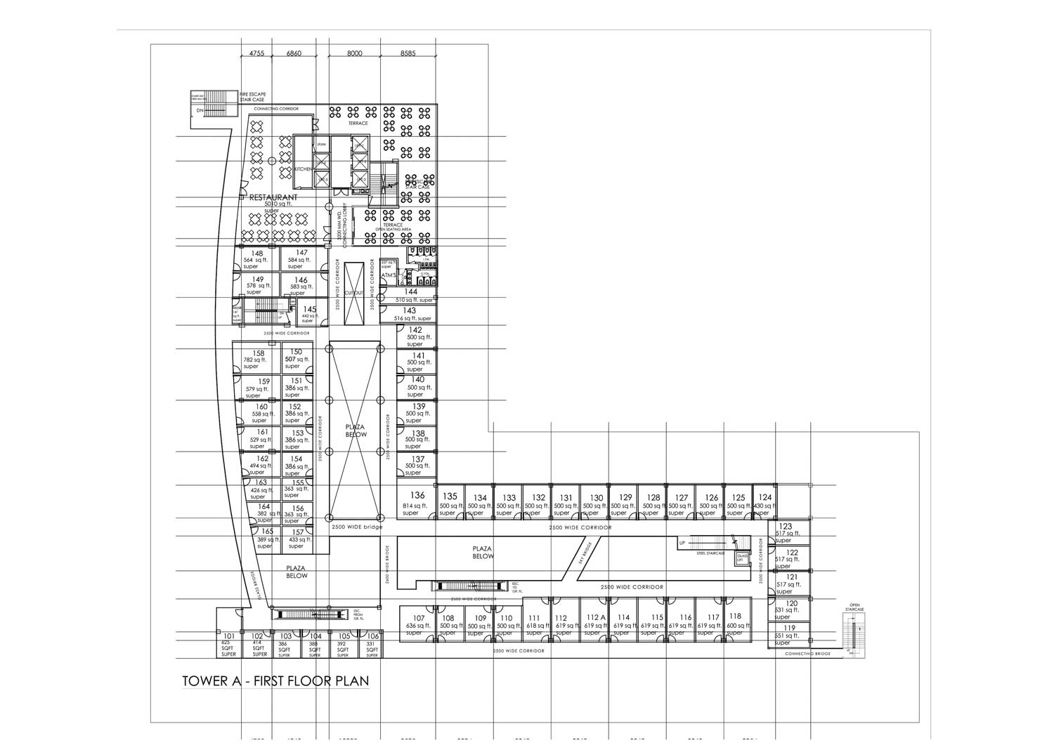Spaze Corporate Park First Floor Plan