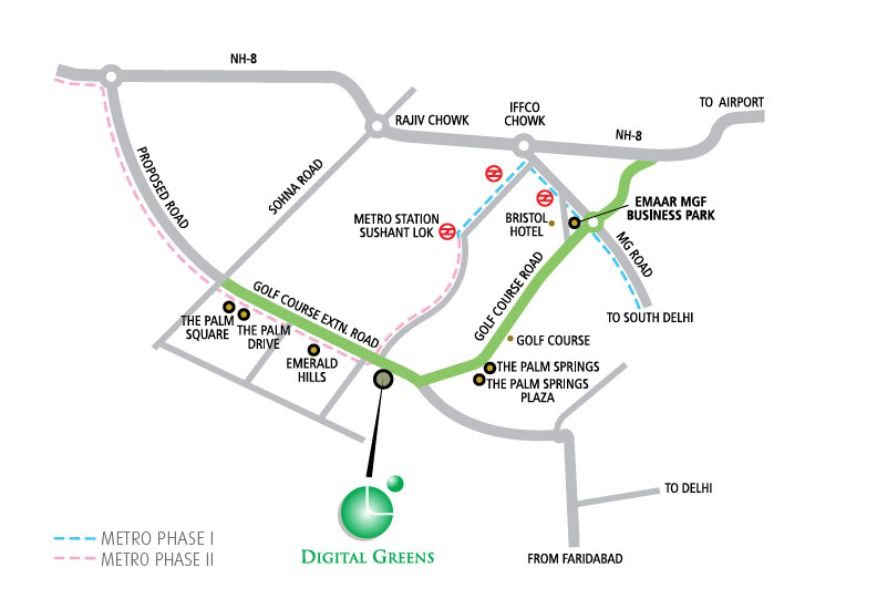 Emaar Digital Greens Location Maps